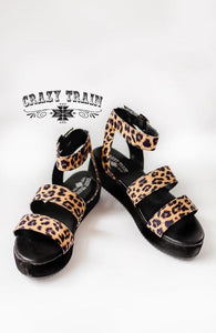 The Twain Leopard Print Sandals (Crazy Train)