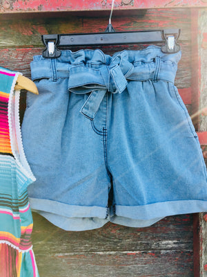 The Jefferson Paper Bag Denim Shorts