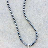 The Quinton Silver Concho Necklace