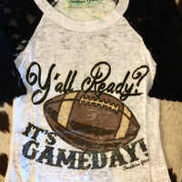 Y'all Ready? It's Gameday Children's Girls Graphic Burnout