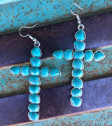 The Carnegie Turquoise Cross Earrings