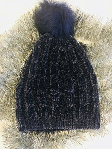 The Missoula Chenille Stocking Cap Beanie (Navy)