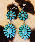 The Burbank Turquoise Stone Drop Earrings