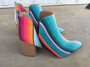 The Ledoux Serape Boots (Booties) Crazy Train