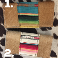 The Bonita Hair On Hide + Serape Wallet (Made in usa)