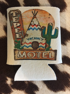 The Los Alamos Cactus Teepee Motel Can Cooler