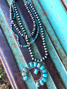 The Checotah Turquoise Squash Blossom Necklace