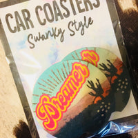 Dreamer Cactus Car Coaster Set