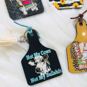 CATTLE TAG KEYCHAIN