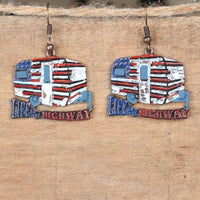 Life is a Highway Vintage Camper Earrings