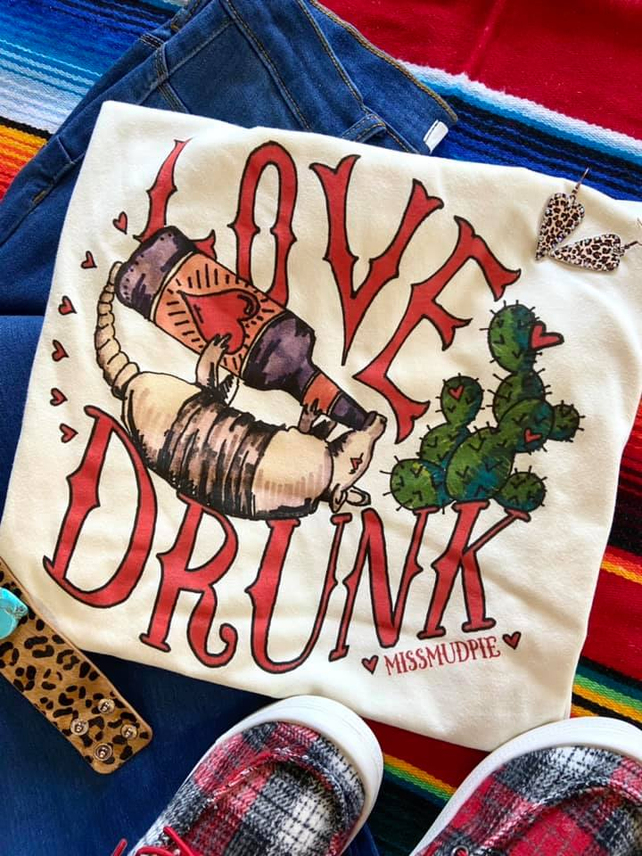 The Love Drunk Armadillo Graphic Tee