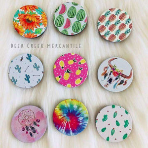 Phone Grips / Pop Socket / Cell Phone Accessories / Cactus / Pineapple / Prints