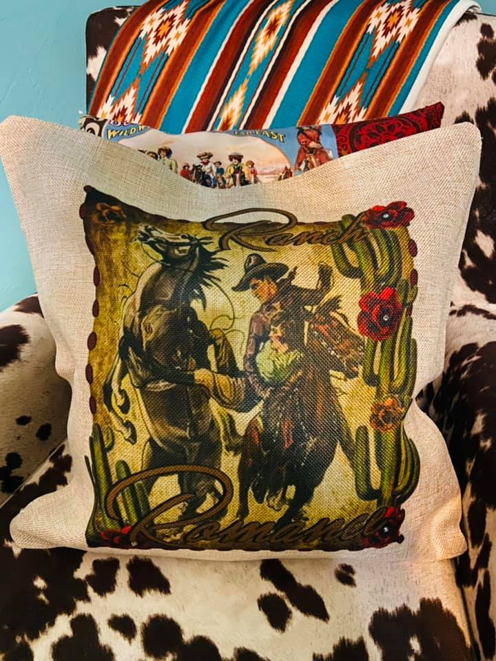 Ranch Romance Western Pillow Cover