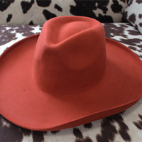 The Charleston Girl Rust Colored Felt Hat