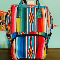 Serape Print Diaper Backpack