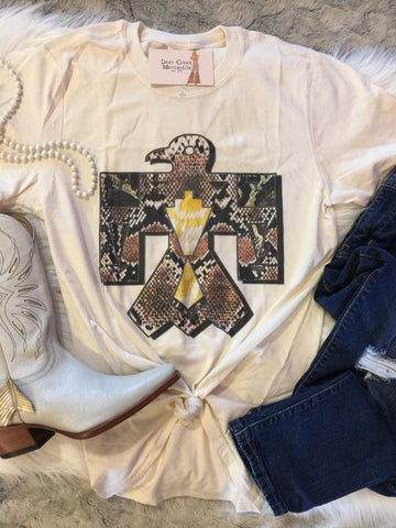 THE SALLY SNAKESKIN THUNDERBIRD GRAPHIC TEE