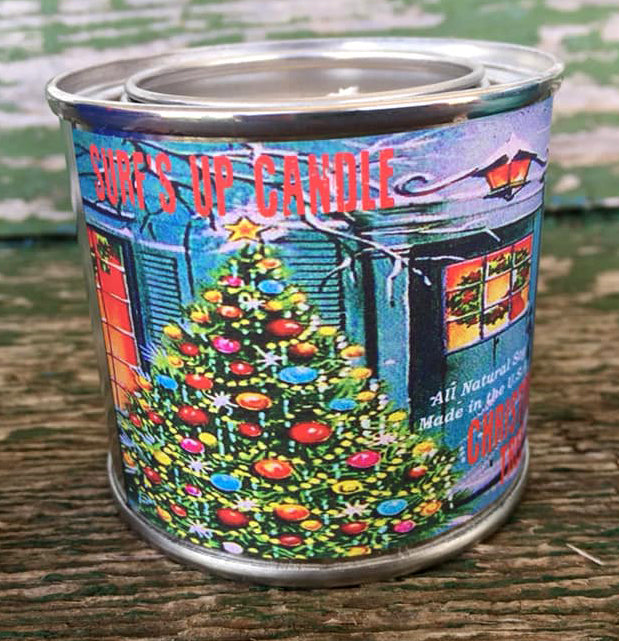 Christmas Tree Paint Can Candle | 1/4 Pint