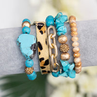 Out On The Town Turquoise Bracelet Set