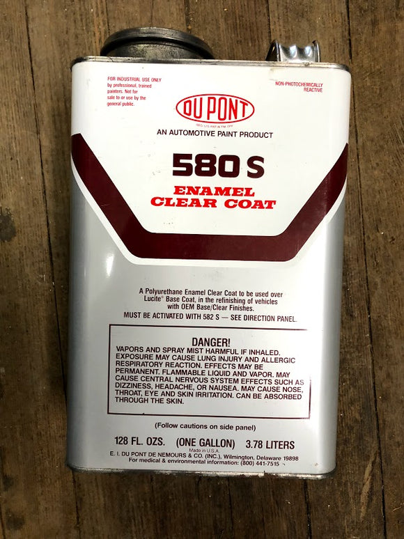 Du Pont 580S Enamel Clear Coat - Gallon