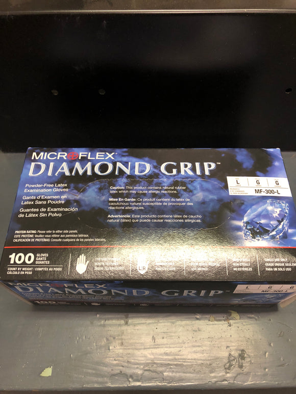 Microflex Diamond Grip Gloves L-XL Box 100