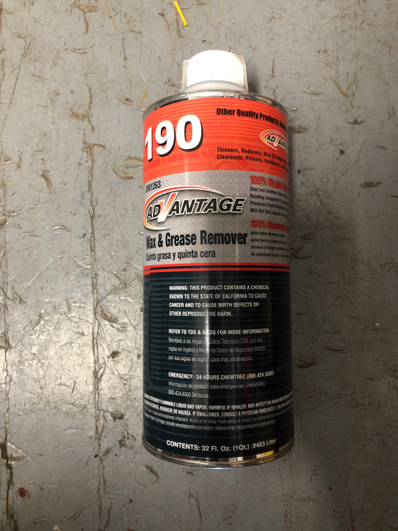 Advantage 190 Qrt. Wax And Grease Remover