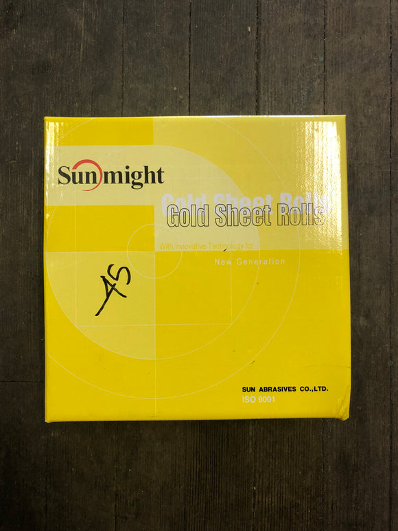 "Sunmight 2 3/4"" 80G Gold Psa Roll"