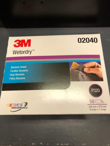 3M Wetordry Sand Paper 240 Sleeve