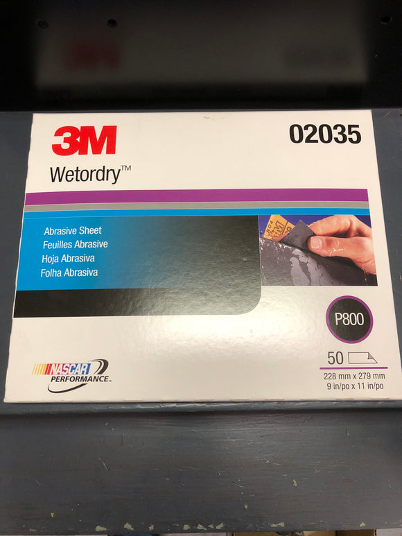 3M 2035 Wetordry sand paper 800 single sheet