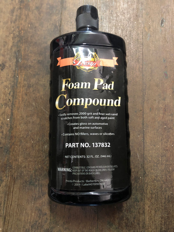 Presta 137832 foam pad compound