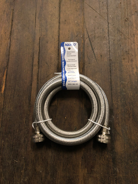 Aquaflo Stainless Steel Washing Machine Connector 60""