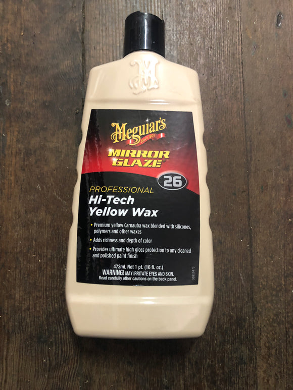 Meguiar'S 26 Hi-Tech Yellow Wax
