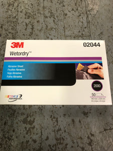3M Wetordry Sand Paper 2000 1/2 Sheet Single