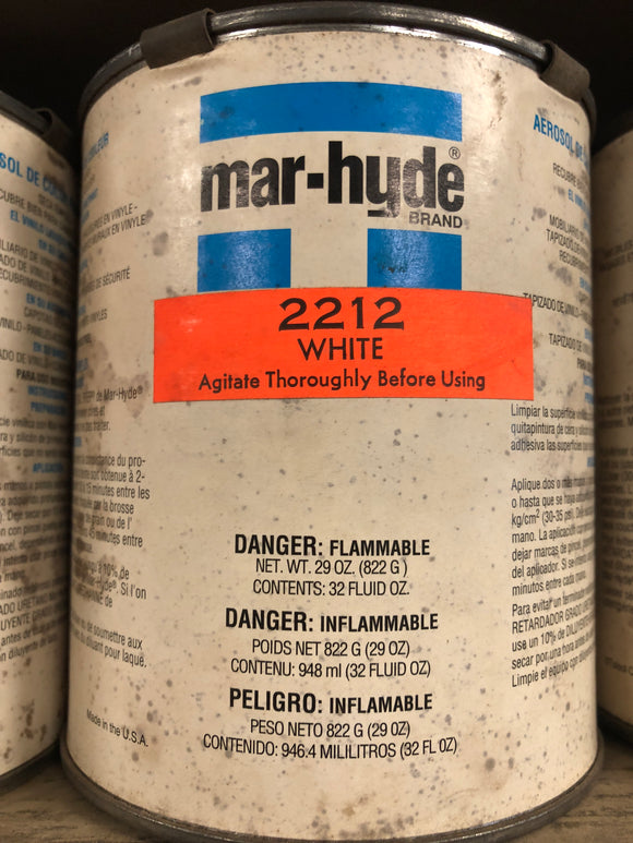 Mar-Hyde Vinyl Color White Quart 2212