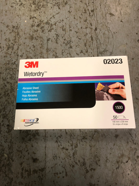 3M Wetordry sand paper 1500 1/2 sheet single
