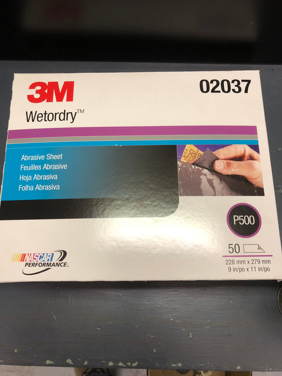 3M 2037 Wetordry sand paper 500 sleeve