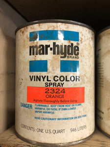 Mar-Hyde Vinyl Color Orange 2324