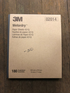 3M Wet Or Dry 180 G Sheets Sleeve