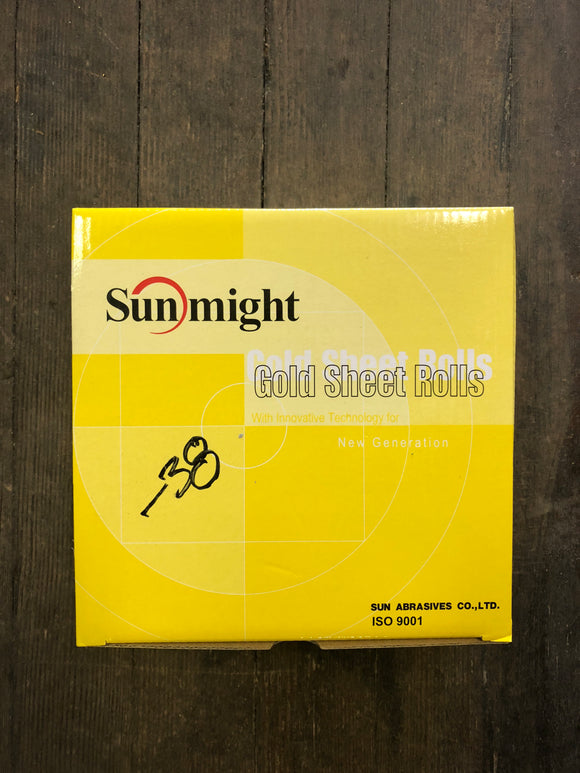"Sunmight 2 3/4"" 120G Gold Psa Roll"