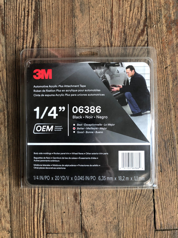 "3M 1/4"" Acrylic Plus Tape 06386"