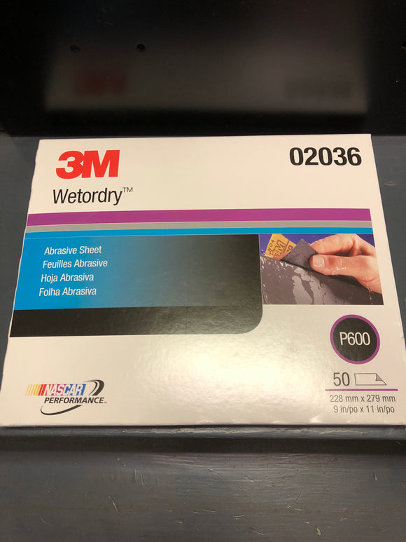 3M 2036 Wetordry Sand Paper 600 Sleeve