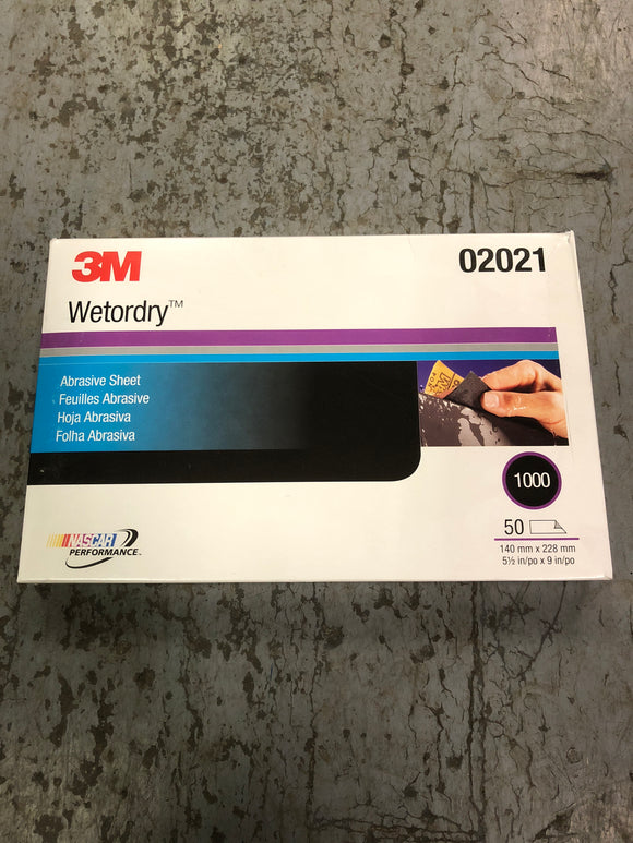3M Wetordry Sand Paper 1000 1/2 Sheet Single