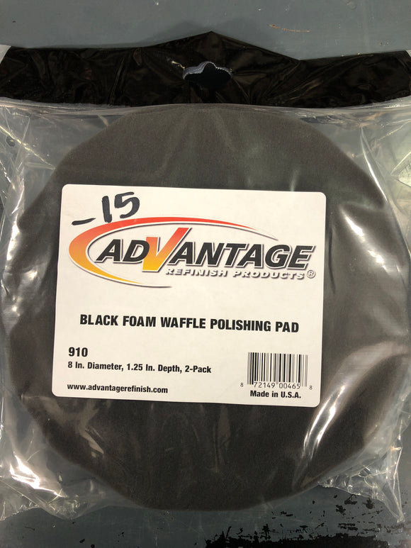 Advantage 910 Black Foam Polishing Pad 2 Pack