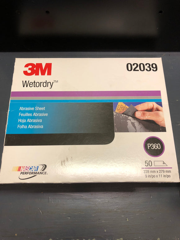 3M Wetordry Sand Paper 360 Sleeve