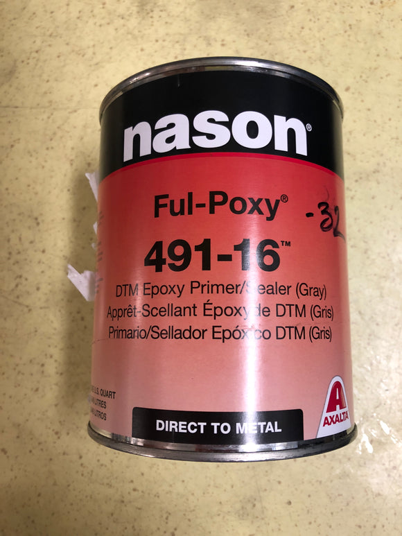 Nason 491-16 DTM Epoxy Primer Sealer Gray
