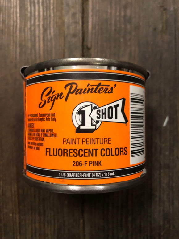 1Shot 206F 1/4 Pint Flourescent Pink