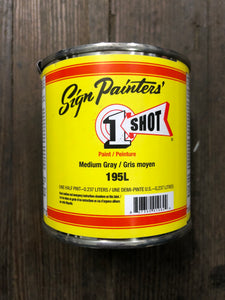 1Shot 195L 1/2 Pint Medium Gray
