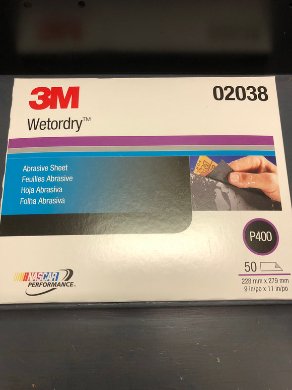 3M 2038 Wetordry Sand Paper 400 Single Sheet