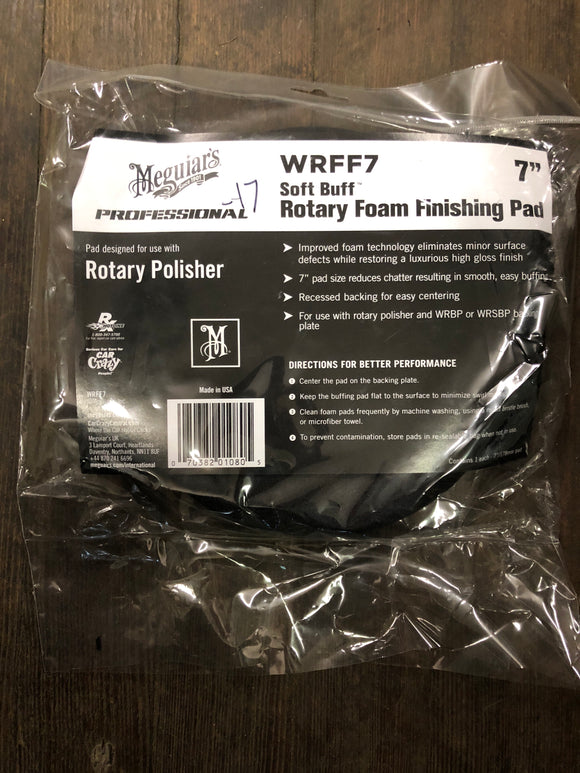 "Meguiars Wrff7 7"" Foam Finishing Pad"