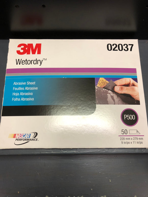 3M 2037 Wetordry sand paper 500 single sheet