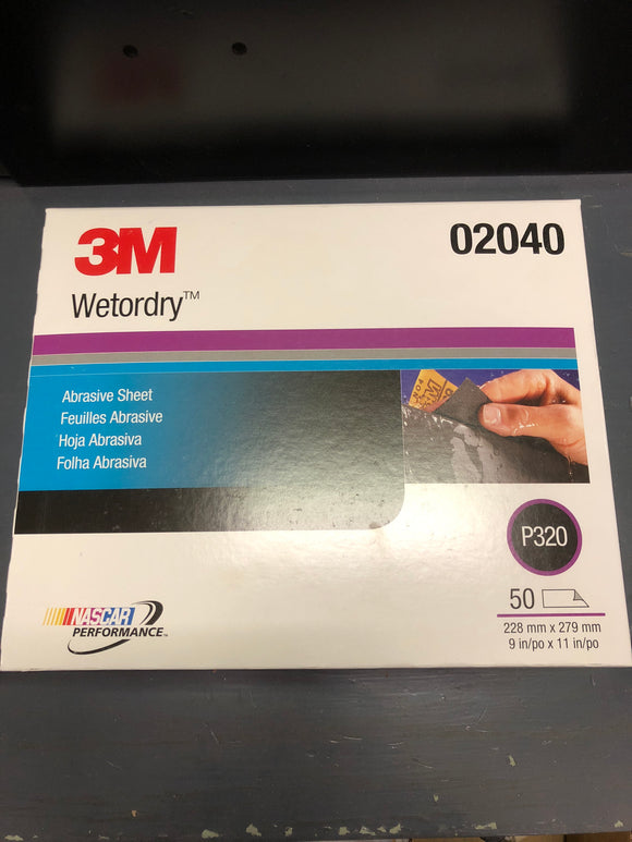 3M Wetordry Sand Paper 320 Single Sheet